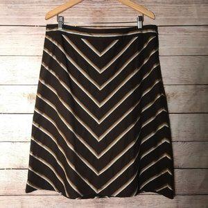 VINTAGE Banana Republic Dark Brown Chevron Skirt